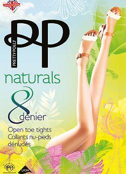 Pretty Polly Naturals 8 Den Open Toe APA6