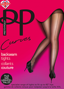 Pretty Polly Curves Backseam AUN5