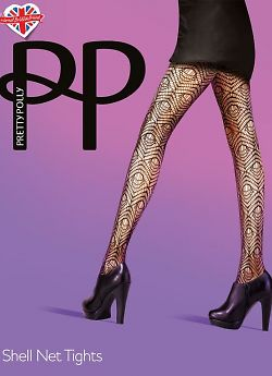 Pretty Polly Shell net tights AUU4
