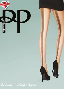 Pretty Polly Beackseam Design tights AVG3