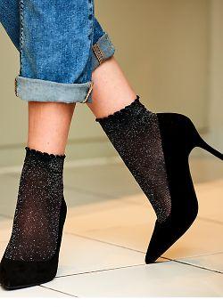 Pretty Polly Lurex Mesh anklets AVQ8