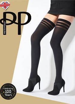 Pretty Polly 80 den Banded Hold Ups AWA4