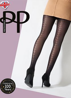 Pretty Polly Pattern Backseam Tights AWB1