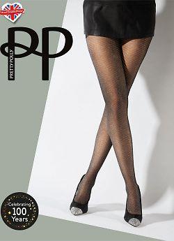 Pretty Polly Lurex Shevron Tights AWB7