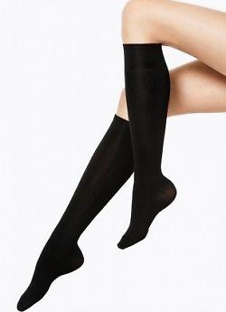 Vogue Silky Cotton Knee-Highs