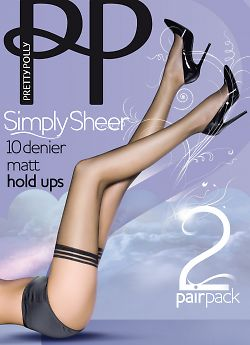 Pretty Polly Simple Sheer 10 den matt hold ups 2PP EPA3