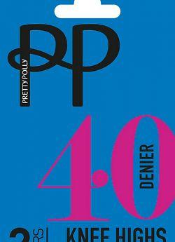 Pretty Polly 40 den knee high 2PP ERQ6