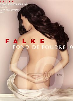 Ультратонкие матовые колготки Falke Fond De Poudre 10