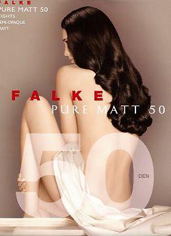 Плотные матовые колготки из микрофибры Falke Pure Matt 50