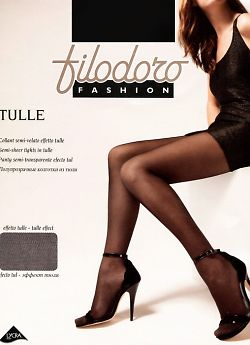 Колготки в сетку-тюль Filodoro Fashion Tulle