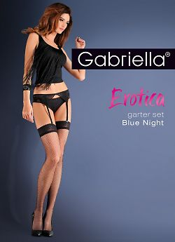 Gabriella Garter Set Blue Night