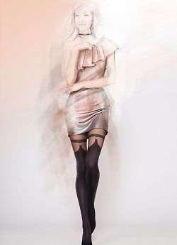 Фантазийные колготки с имитацией чулок Gatta Girl Up 28