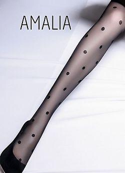 Украшены тканым узором в горох по всей длине ноги.