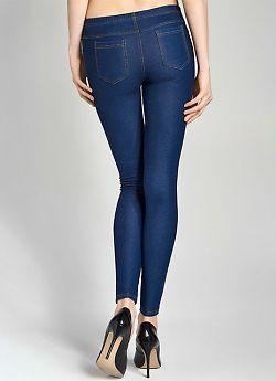 Модные джинсовые леггинсы Marilyn Jeans Rip 02