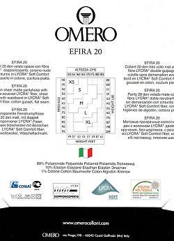 Матовые прозрачные колготки Omero Efira 20