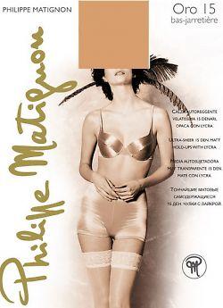 Чулки женские Philippe Matignon Oro 15 Bas Jarretiere