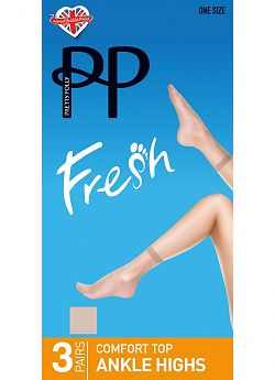 Pretty Polly Silver fresh ankle highs 3PP GZ14