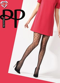 Pretty Polly Diamond Heart Tights AVU5