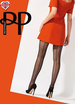 Pretty Polly Diamond Mesh Backseam AVU4
