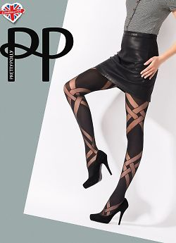 Pretty Polly Sheer and Opaque Lattice Tights AVT7
