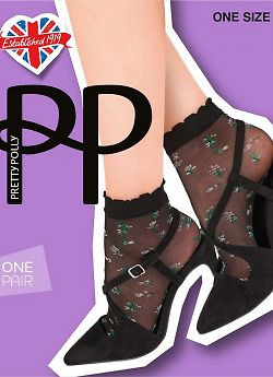 Носки Pretty Polly Sheer Floral Anklet AVX6