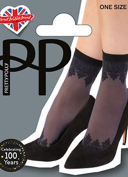 Носки Pretty Polly Patterned Top ana Toe Anklet AWC4