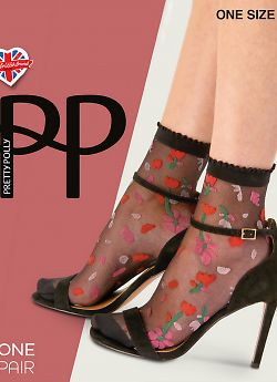 Носки Pretty Polly Patterned Top ana Toe Anklet AWK8