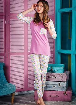 Женская пижама Evelena 1451 Caramel