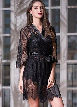 Изысканный кружевной халат-кимоно Mia-Amore Laguna Deluxe 2133