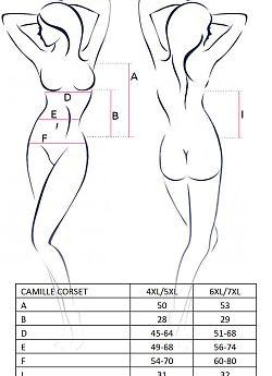 Passion Size Plus Camille corset Black