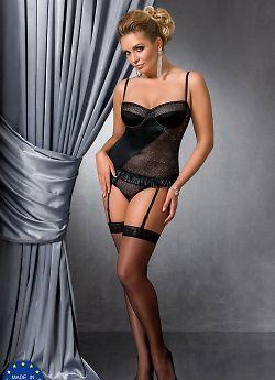 Passion Size Plus Carolyn corset Black