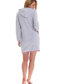 Халат женский Doctor Nap SMZ.9455 Grey Melange