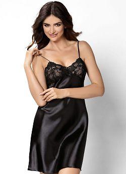 Donna Aisha nightdress Black