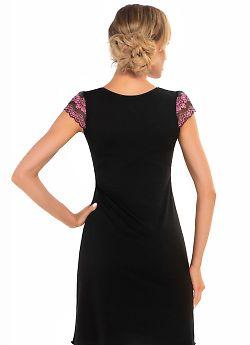 Donna Aura nightdress Black