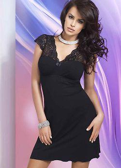 Donna Diana nightdress Black