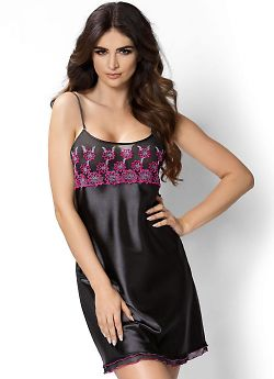 Donna Janette nightdress Black