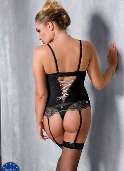 Passion Size Plus Edith corset Black