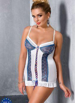 Passion Size Plus Eleni chemise White