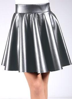 Женская юбка из искусственной кожи Giulia Circle Skirt Leather