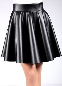 Giulia Circle Skirt Leather
