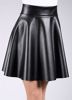 Giulia Mini Skirt Leather
