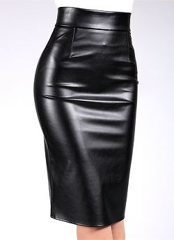 Giulia Pencil Skirt Leather