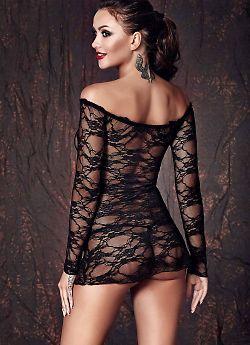 Полупрозрачная кружевная сорочка Anais Lynette