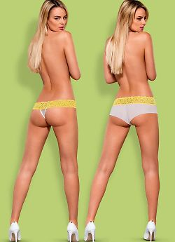 Obsessive Lacea shorties & thong Yellow
