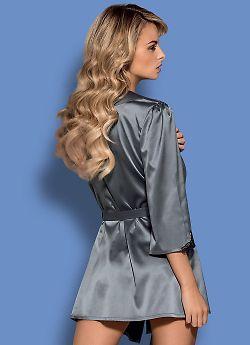Obsessive Satinia robe Grey