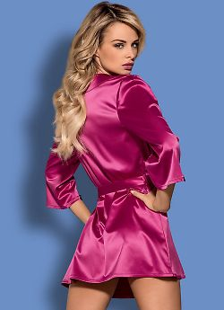 Obsessive Satinia robe Pink