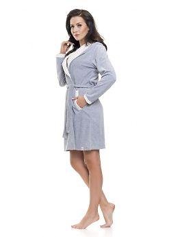 Халат женский Doctor Nap SWD.9072 Grey Melange