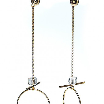 Серьги с кристаллами Moon Paris Ringo цепи и кольца