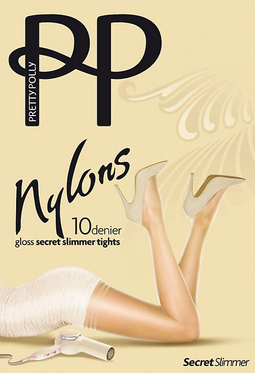 Pretty Polly Nylons 10 Den Gloss Secret Slimmer APA9