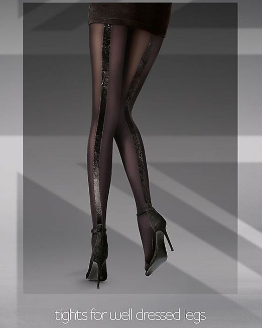 Фантазийные колготки с бархатным швом-стрелкой Pretty Polly Velvet Backseam AUZ2